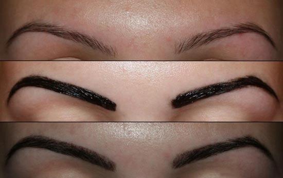 Способы окрашивания черных бровей