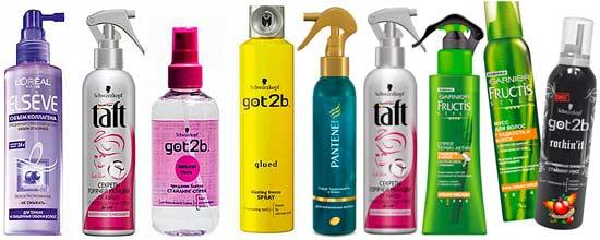 Защита волос от высоких температур утюжка, фена и плойки